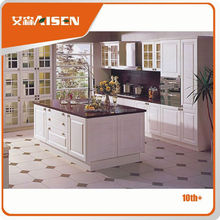 Great durability factory directly pvc beech hotel wood kitchen furniture