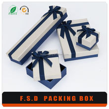 2015 New Design Blue Ribbon Pack Marble Jewelry Box