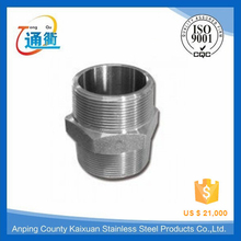 casting stainless steel barrel nipple male thread both side with manufacture