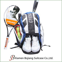 promotional large capacity men women tennis racket backpack with shoes comparment