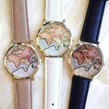 zly488 New Vintage Earth World Map Watch Alloy Women Men Analog Quartz Wrist Watches