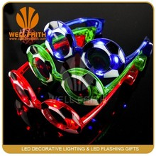 Football shaped plastic Flashing Light Up Led Glasses,Flashing light up glasses for crazy party