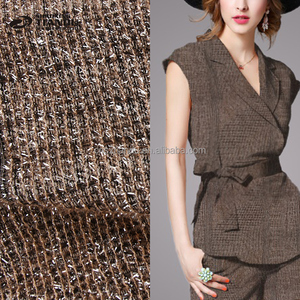 Nouveau design top qualité pas cher collé tube en tricot tissu polyester spandex