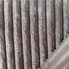 wholesale polyester warp knit strip design pattern brushed knit velboa fabric