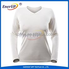 Thermal underwear wool blended long johns for women