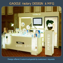 customized LED lights cosmetic display retail for store display