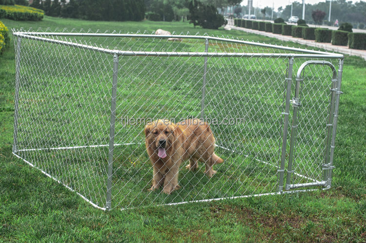 7.5x7.5x4ft Large outdoor galvanized chain link metal animal cage