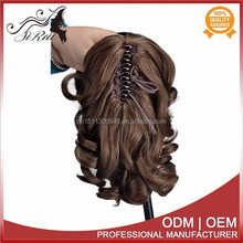 Wholesale cheap chinese wigs top kanekalon high ponytail lace front wigs