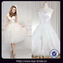 muy dulce s623 flores de cristal apliques de encaje sencillo vestido corto