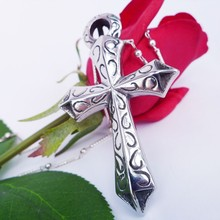 2015 fashion jewelry stainless steel cross key pendant necklace silver pendant