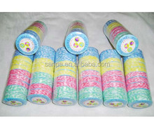 2015 Hangzhou Magic Super Colorful Stripe Non-woven Compressed Tissue Cleaning Cloth