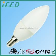 PSE Listed Super Bright Warm White 3000K SMD LED Bulb 110V 3W LED Candle Lamps E14