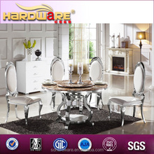 Oriental dining table/china cheap marble top dining table sets