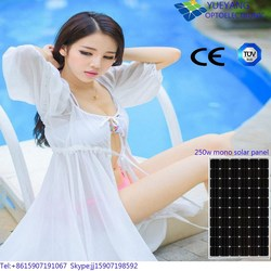 China manufacturer cheap pv solar panel 250w monocrystalline