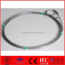 MI thermocouple probe with J type extension wire
