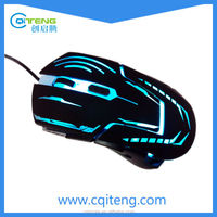 6 Buttons Gaming Mouse With 7-Color Breath LED Light,USB Optical Gaming Mouse 2400 DPI