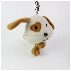 10cm small soft stuffed white dog, OEM design pendant hanging animal toy puppy