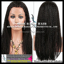 Alibaba Trade Assurance Paypal Accepted 2015 Fashion New Style Factory Price Indian Remy Hair African American Braided Lace Wig