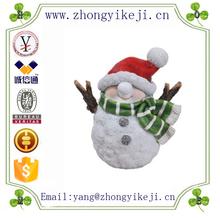 factory custom-made handmade carved fashion resin mini snowman ornament