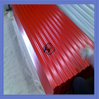 RAL3002 red color iron roof sheet/corrugated steel roof