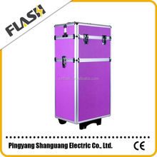 Hot Sale Professional Cosmetic Trolley Case With Wheels makeup case