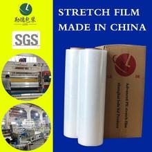 Totalement matières premières transformés LLDPE film étirable / super clean / l'utilisation de la main film / made in shanghai lede