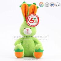 Mini size/ Small animal toys green stuffed plush bunny rabbit toy
