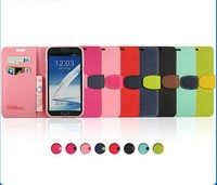 Cell Wallet Phone Case for Samsung Galaxy Note2 II N7100 N7108