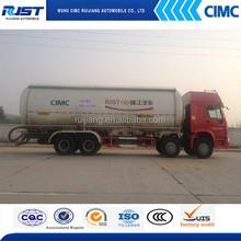 SINO TRUK 8x4 bulk cement tank truck /powder tank truck cement transport tank truck