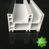 high quality door window frame sliding plastic UPVC extrusion profile