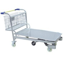 reasonable price and good quality Metal warehouse cart,Heavy Duty Warehouse Cargo Trolley