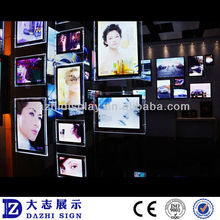 New product double faces crystal frame jewelry led light box