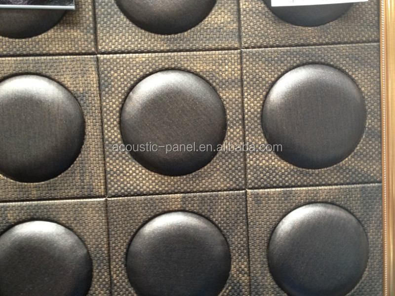 Acoustical Foam Panels Black Leather Round Sound Absorber Acoustical Foam Panel yz 001