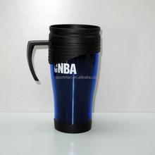 14oz plastic double walls travel mug plastic mug