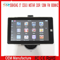 "5"" HD 800X480 gps navigator navigation MTK 800MHZ 128M ce 6.0 FM 4GB Without avin bt free newest map"
