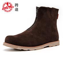 aqua 2014 marca dos bota bota de cuero genuino