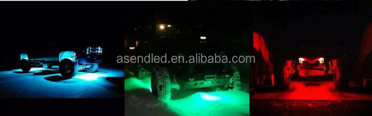 12 v Bluetooth APP contrôle RGB led rock la lumière sous la voiture pour Jeep/offroad/camion lampe de travail