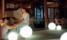 IP67 beautiful white plastic lighting garden party decor ball led light furniture