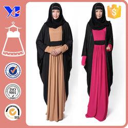 2015 Hot sale Gambar Modern Muslim abaya Casual Style Design Elegant Black Muslim Women Long dress for muslimah with out hijab