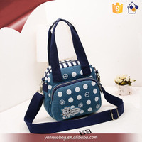 new arrive durable leisure wash fabric nylon handbag for women shoulder bag