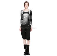 2015 spring European style girls nail bead long sleeve t- shirt