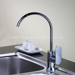 Deck mounted brass contemporary kitchen taps