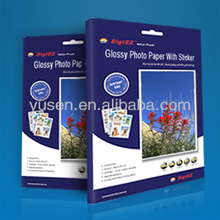 Quality Audited 135gsm Glossy Inkjet Adhesive Photo Paper