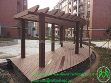 Plastic wood Composite WPC decking,railing,pergola,planters profiles,