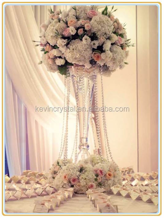 Wedding Centerpiece Glass Vaseevent Table Flower Arrangementtall