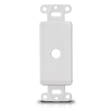 faceplate network face plate insert white/ivory single hole for gameboy micro faceplate