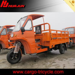 motrized 3 wheel motorcycle with roof for cargo on selling