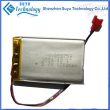 China shenzhen manufacturer li-polymer battery li-ion battery 3.7v 1500mah