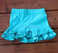 Wholesale baby ruffle shorts with aqua tier ruffle M5032712
