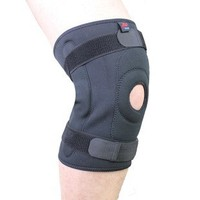 high quality black neoprene hinged knee brace for knee support and protector